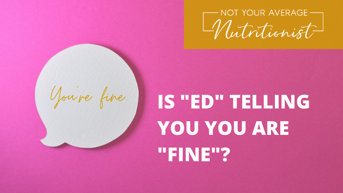 """IS """"ED"""" TELLING YOU YOU ARE """"FINE""""?"""