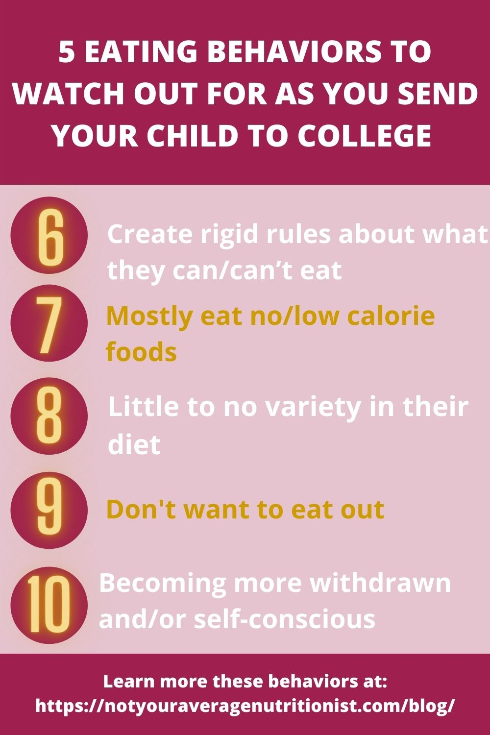 behaviors to watch out for as your child goes off to college